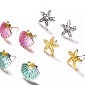 Starfish or Shell Earrings